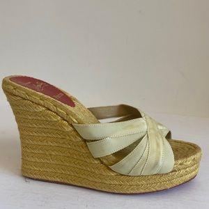 Christian LOuboutin summer wedges heels 37 $950